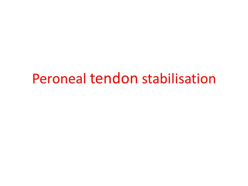 Anatomy Peroneal tendons course behind the distal fibula The peroneus brevis may have degenerative changes if the injury is not identified in a timely fashion