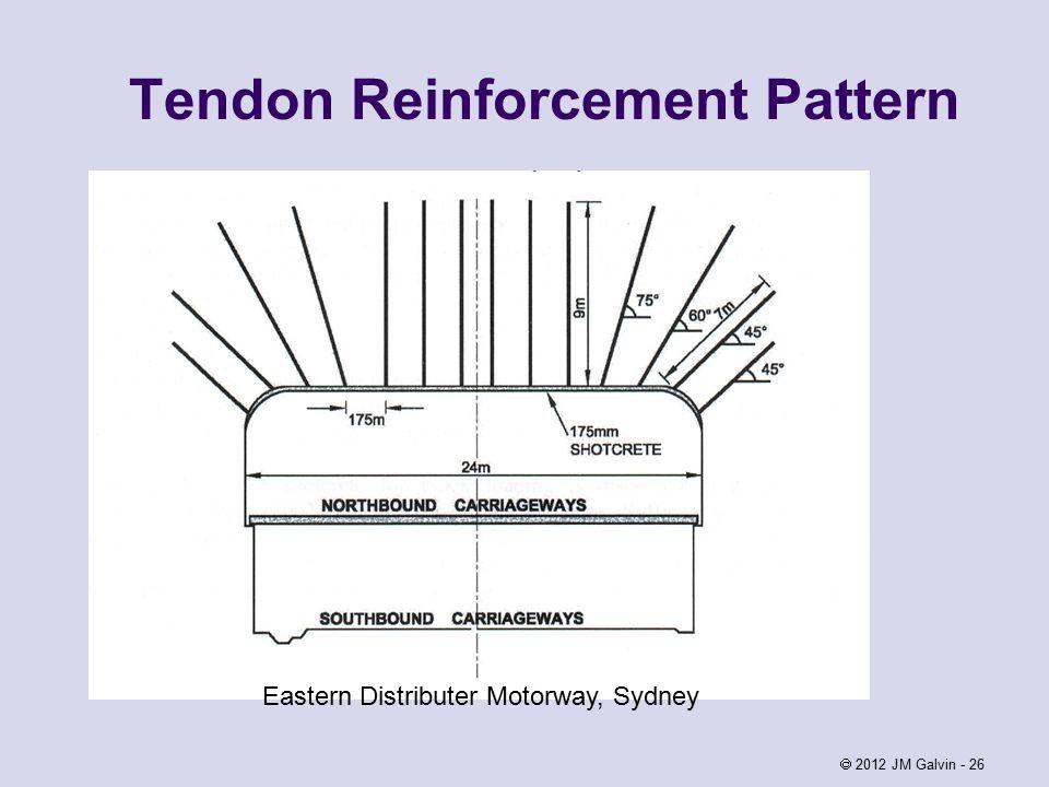 2012 JM Galvin - 26 Tendon Reinforcement Pattern Eastern Distributer Motorway, Sydney