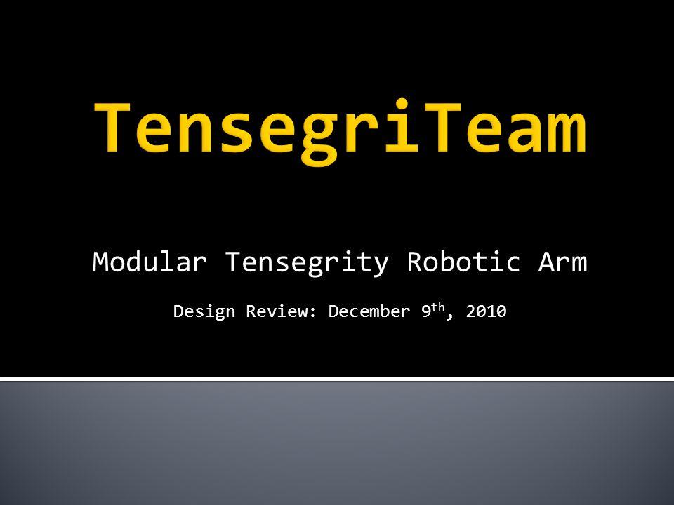 Modular Tensegrity Robotic Arm Design Review: December 9 th, 2010