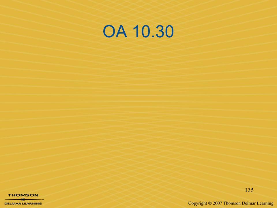 OA 10.30 135