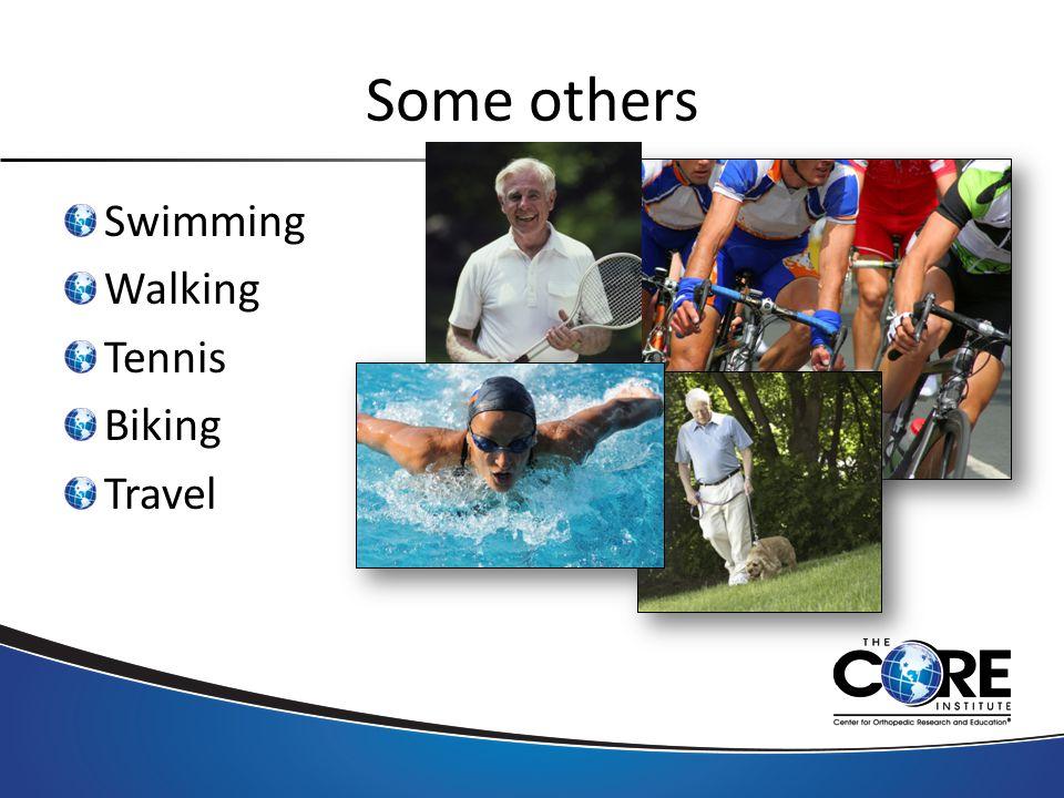 Some others Swimming Walking Tennis Biking Travel