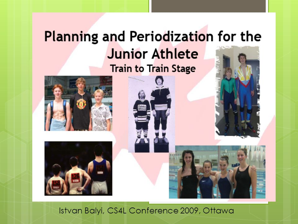 Istvan Balyi, CS4L Conference 2009, Ottawa