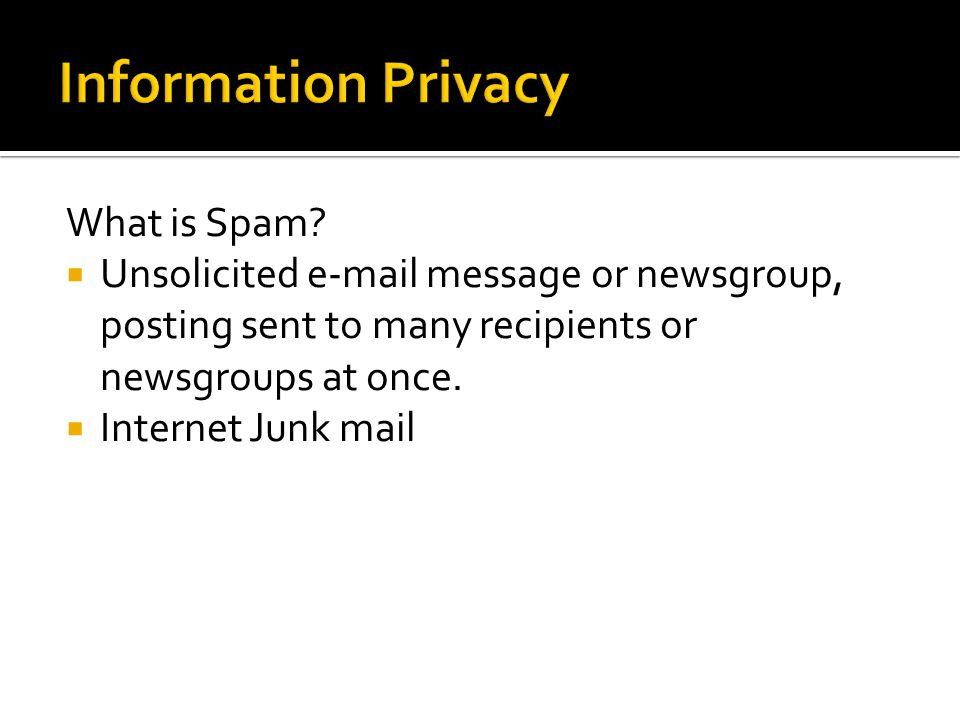 What is Spam.
