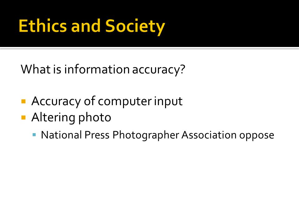 What is information accuracy.