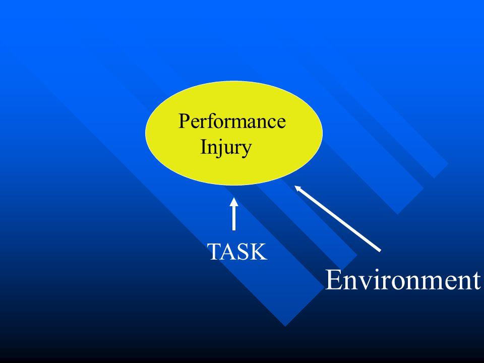 Environmental Factors Weather/field/floor conditionsWeather/field/floor conditions Friction====>stability, tissue loadsFriction====>stability, tissue loads
