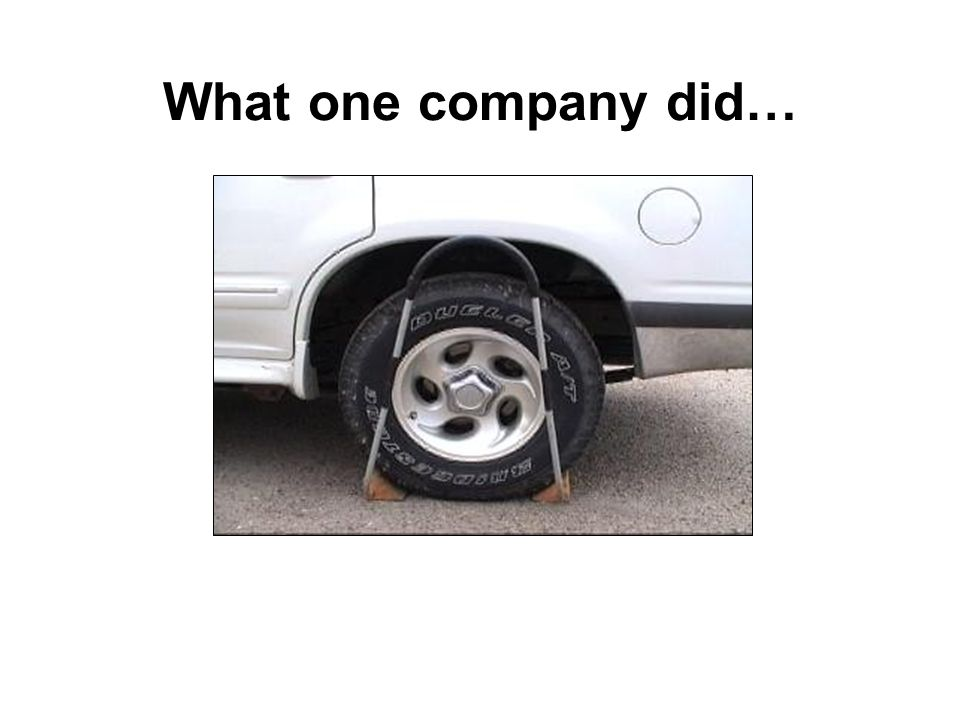 What one company did…
