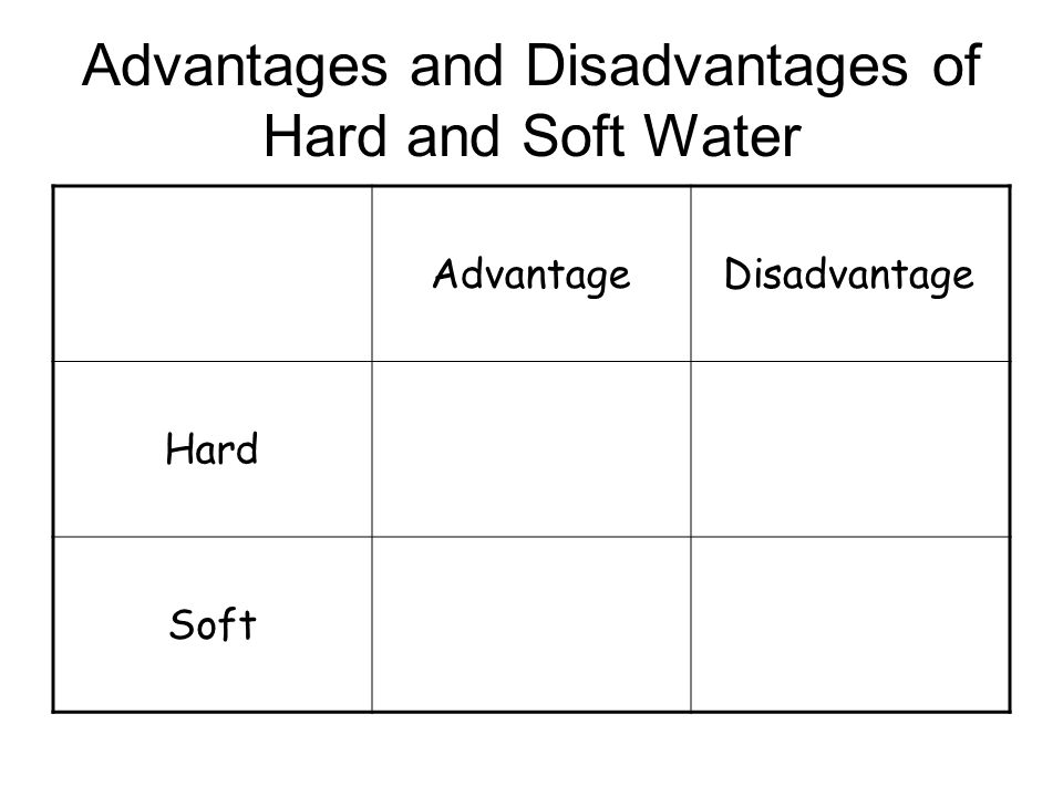 Where hard water comes from Acid Rain Limestone Water dissolves the limestone (Calcium Carbonate) and the calcium ions make the water hard Water that runs off straight to rivers and lakes is soft water