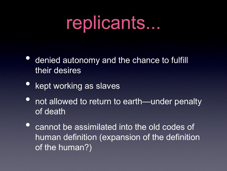 replicants...