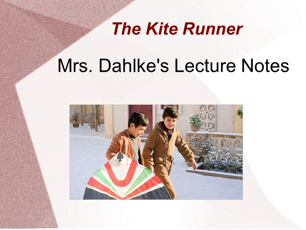 About the Author The Kite Runner is the first novel by Khaled Hosseini The first novel published in English by an Afghani.