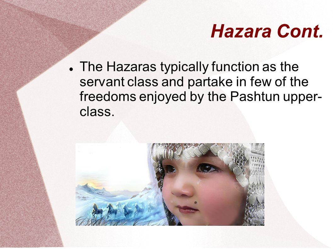 Hazara Cont.