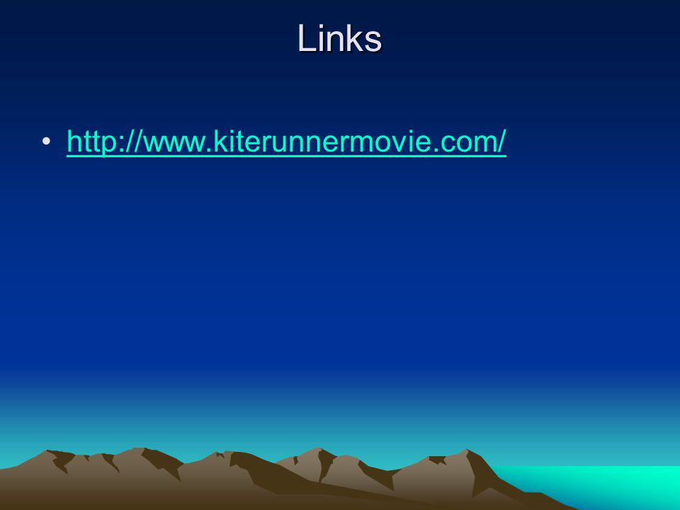 Links http://www.kiterunnermovie.com/