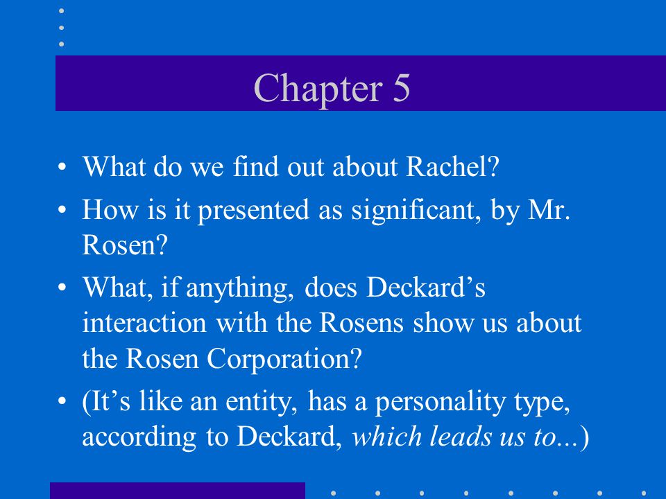 (More) Do you think this might have something to do with what Rachel reveals on page 166.