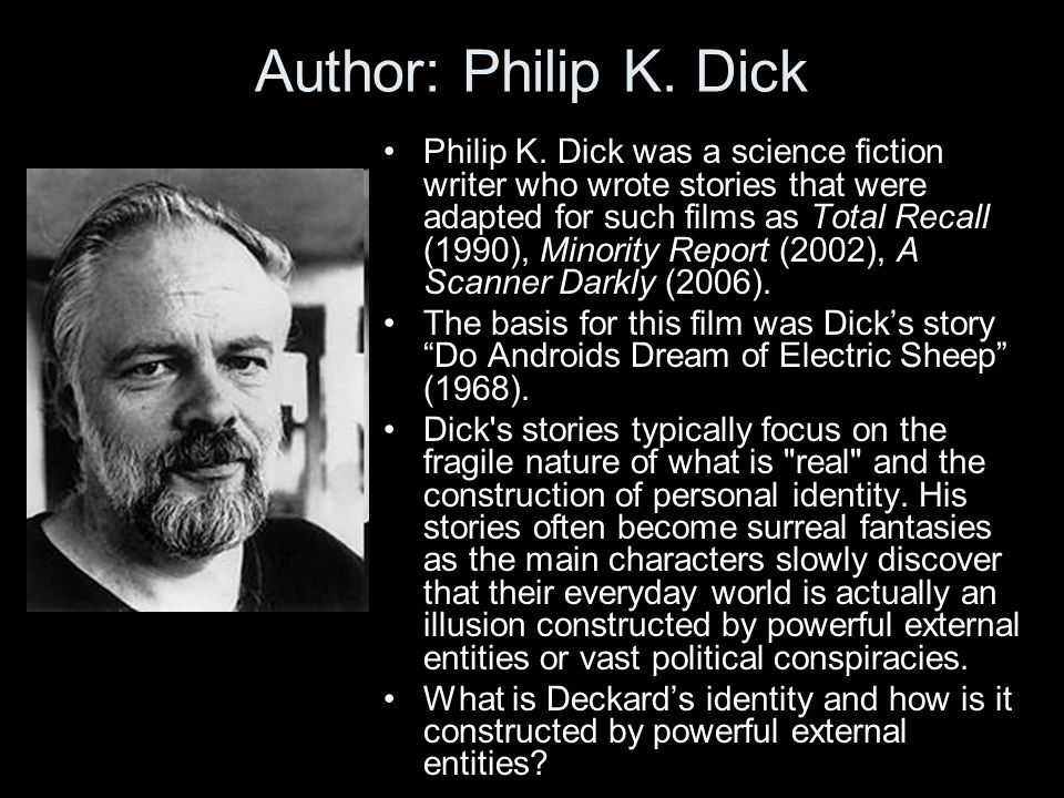 Author: Philip K. Dick Philip K.