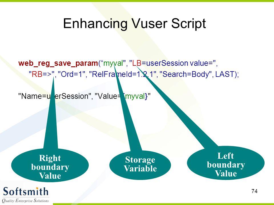 "74 Enhancing Vuser Script web_reg_save_param(""myval"