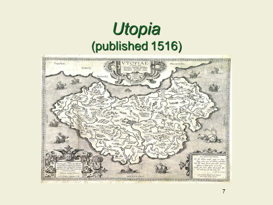 8 Utopia |yoō ˈ tōpēə| (also utopia) noun An imagined place or state of things in which everything is perfect.