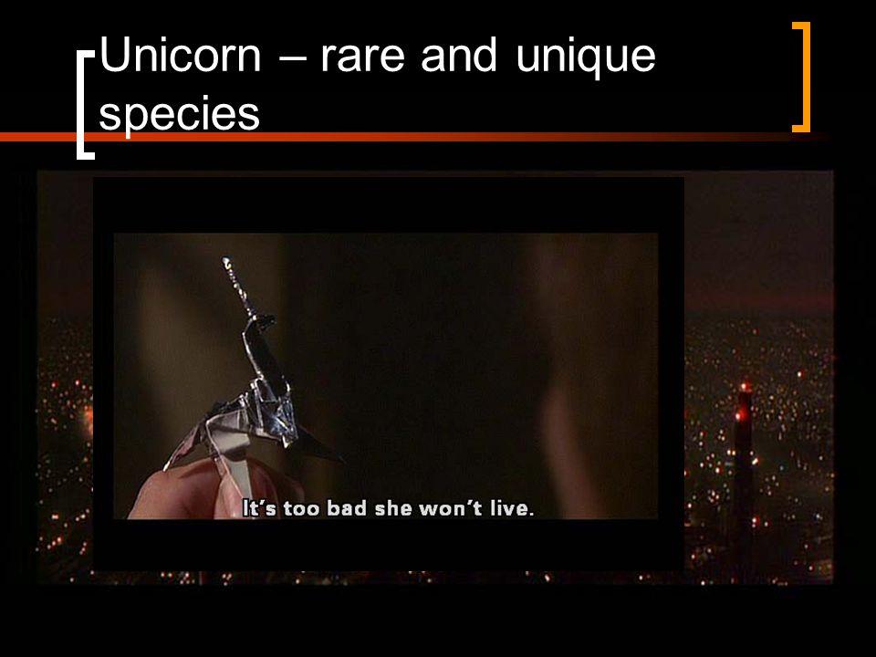 Unicorn – rare and unique species