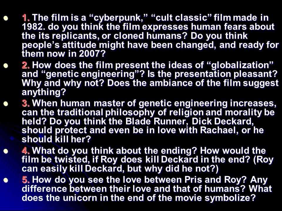 1. The film is a cyberpunk, cult classic film made in 1982.