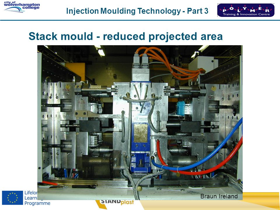 Injection Moulding Technology - Part 3 CoWC 0410 Braun Ireland Stack mould - reduced projected area