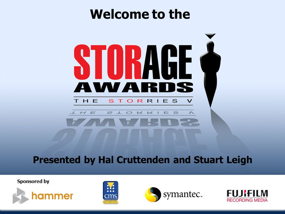 Welcome to the Presented by Hal Cruttenden and Stuart Leigh Sponsored by