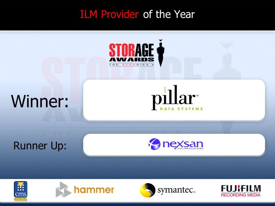 ILM Provider of the Year Winner: Runner Up: