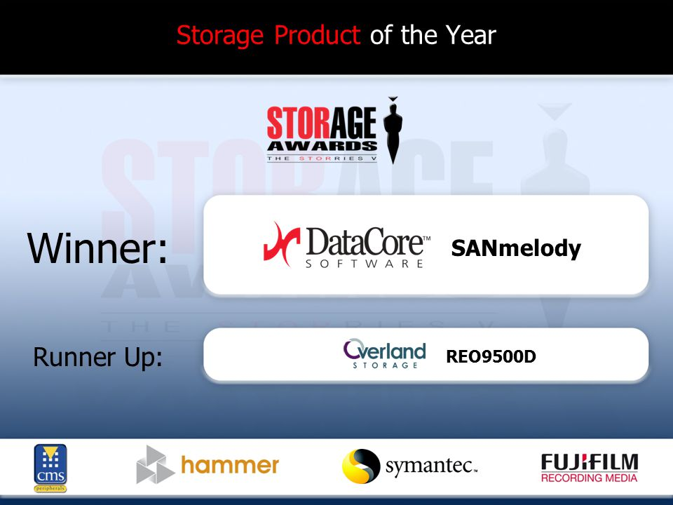 Storage Product of the Year Winner: Runner Up: SANmelody REO9500D