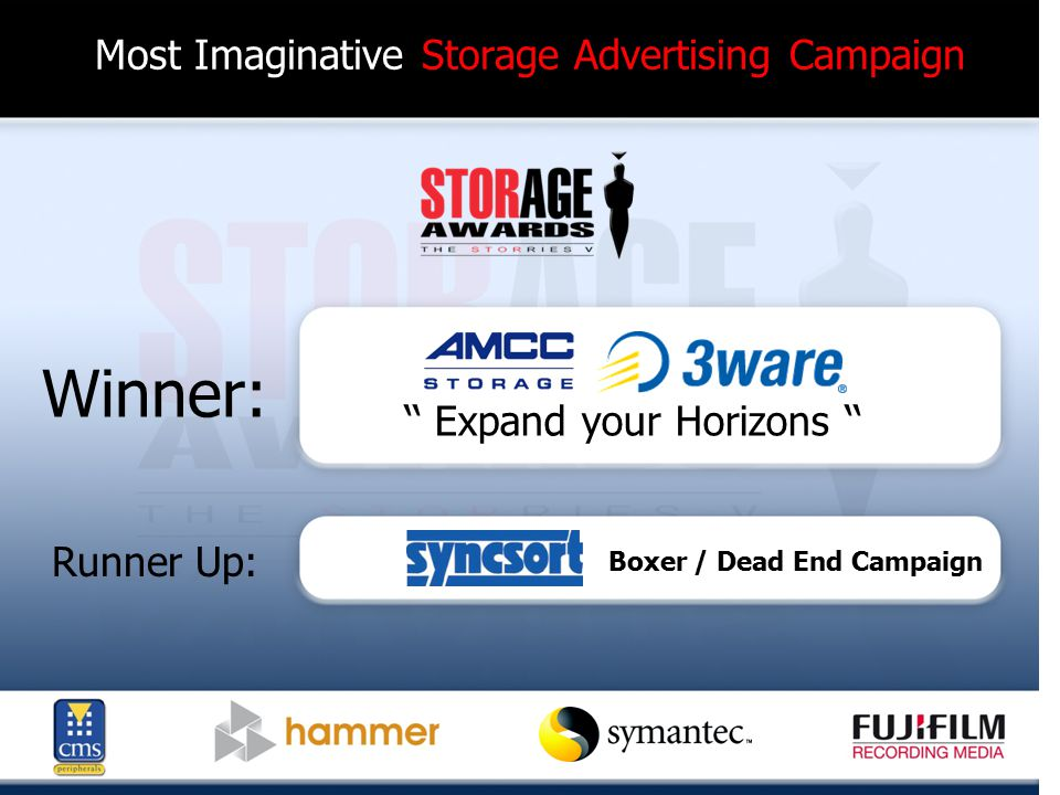 Green Storage Product of the Year Finalists: CopanSystems-Revolution 300M EMC-Centera NetApp-FAS2000 Nexsan-SATABeast (featuring AutoMAID) Pillar Data-Axiom 500 Sepaton-S2100-DS2 VMware-ESX 3.5 Xyratex-F6412E
