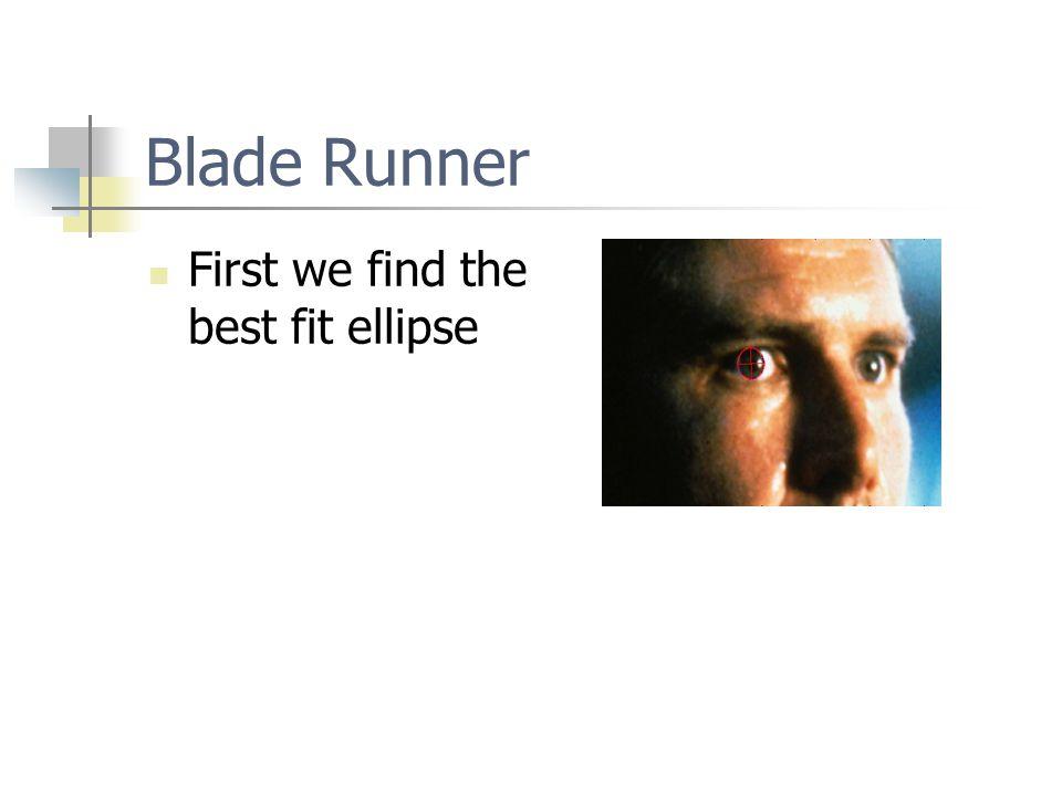 Blade Runner First we find the best fit ellipse
