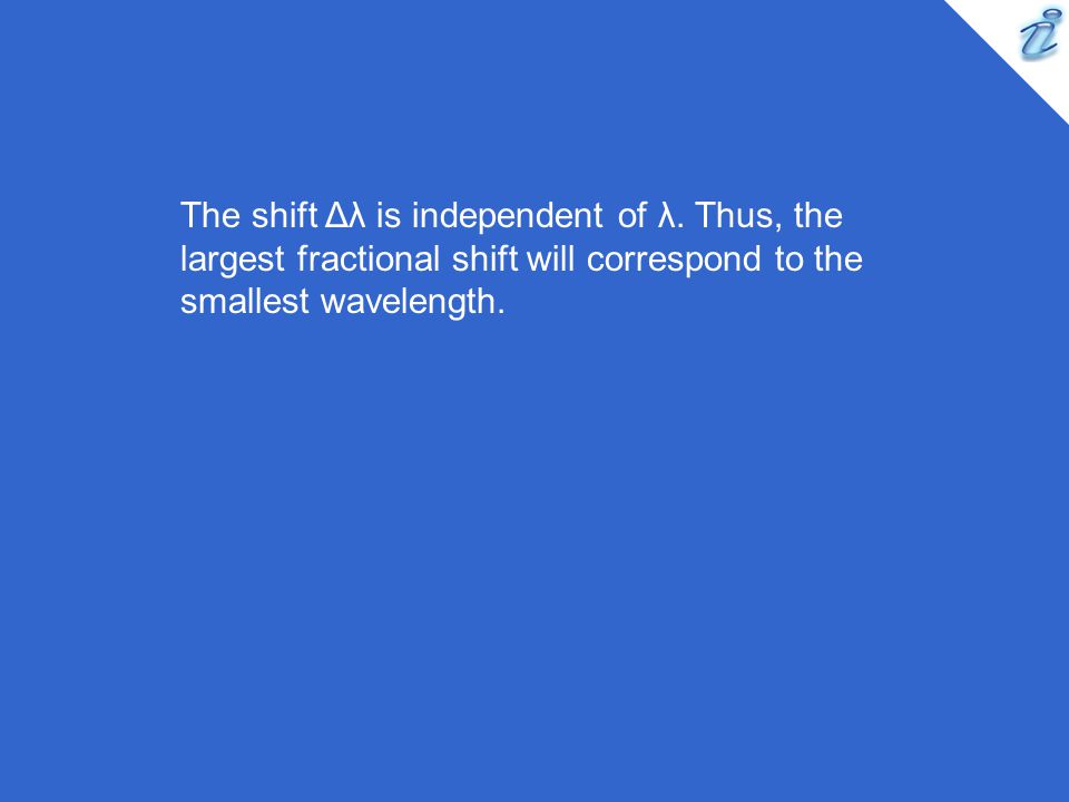 The shift Δλ is independent of λ.