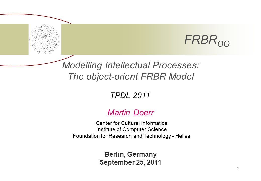 ICS-FORTH September 25, 2011 12 EDM, a new indexing standard.