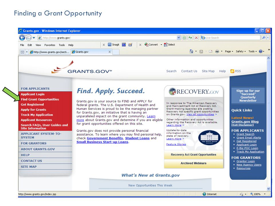 Finding a Grant Opportunity