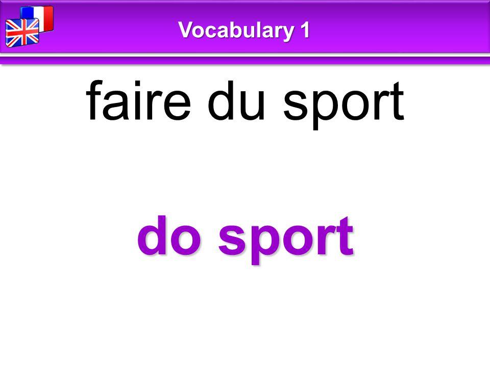 do sport faire du sport Vocabulary 1