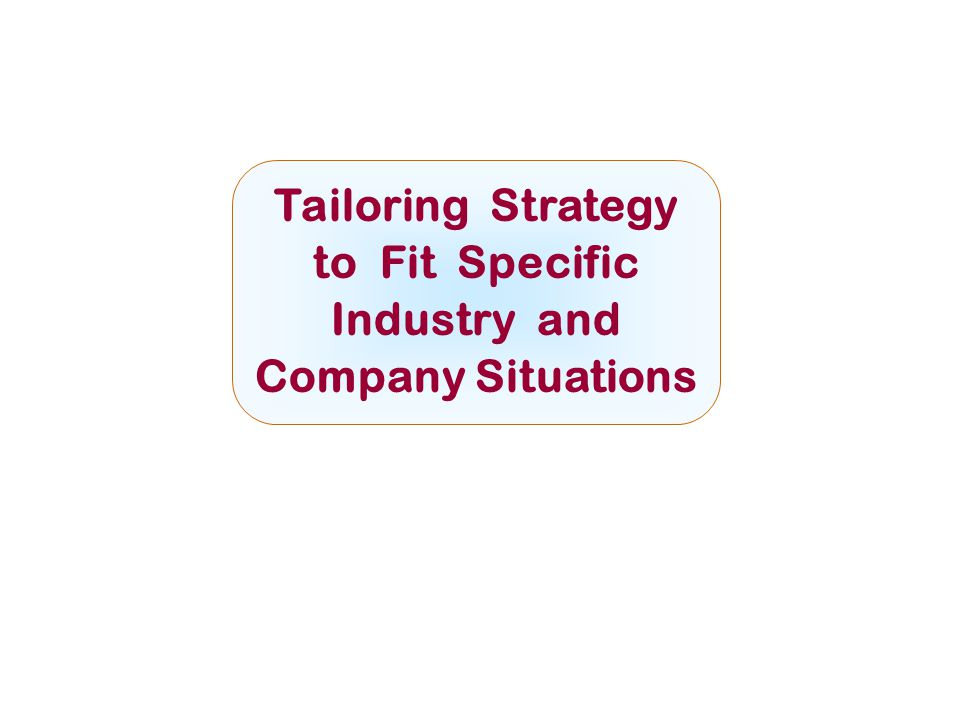 Tailoring Strategy to Fit Specific Industry and Company Situations McGraw-Hill/IrwinCopyright © 2008 by The McGraw-Hill Companies, Inc. All rights res
