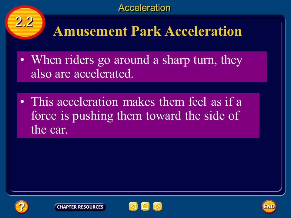 Amusement Park Acceleration Steel roller coasters can offer multiple steep drops and inversion loops, which give the rider large accelerations. 2.2 Ac