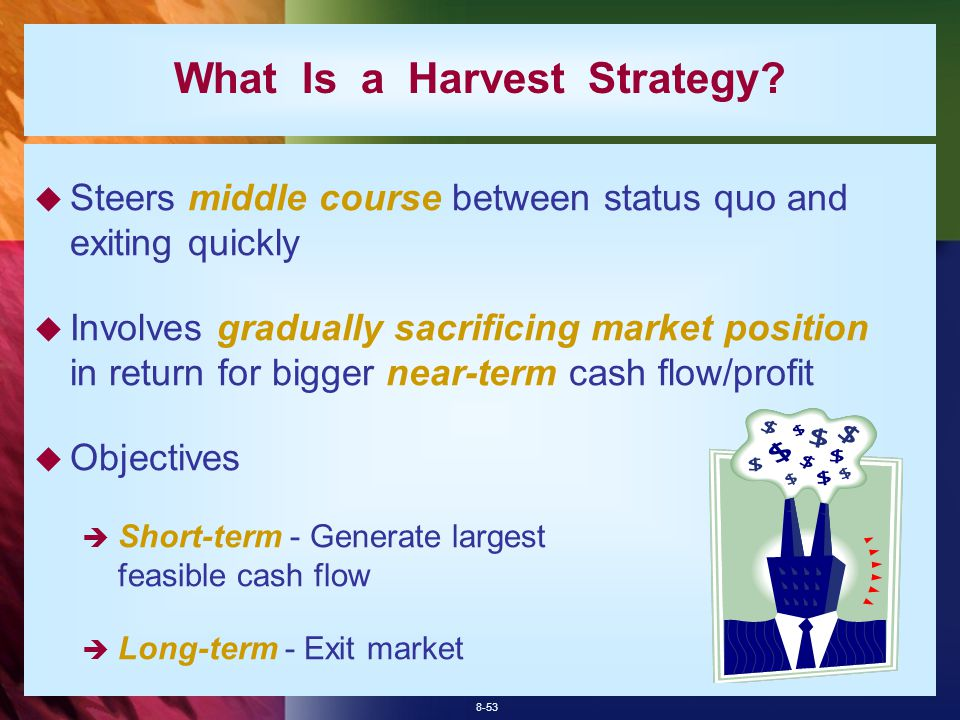 8-53 What Is a Harvest Strategy.