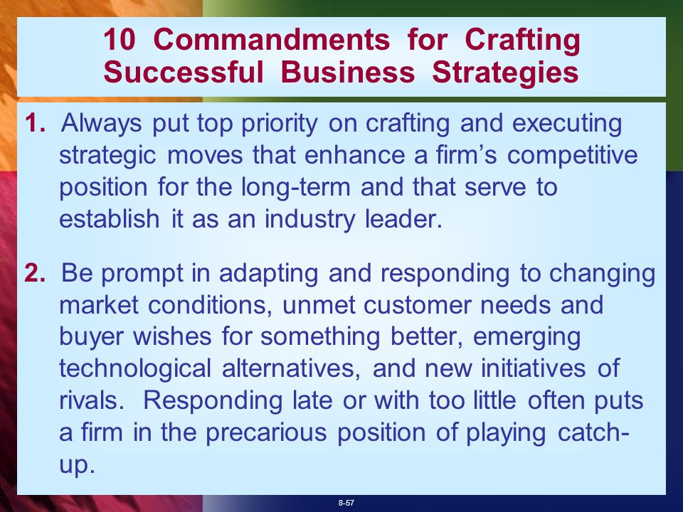 8-57 10 Commandments for Crafting Successful Business Strategies 1.
