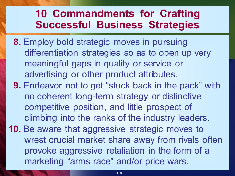 8-59 10 Commandments for Crafting Successful Business Strategies 8.