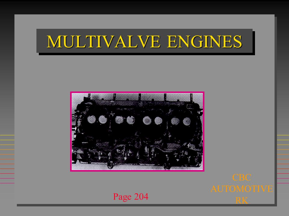 MULTIVALVE ENGINES CBC AUTOMOTIVE RK Page 204