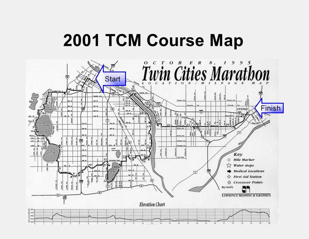 Start Finish 2001 TCM Course Map