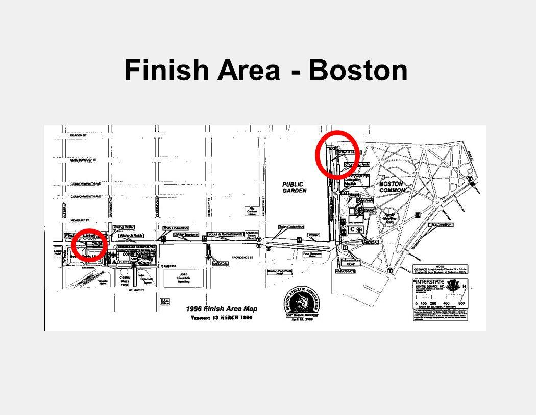 Finish Area - Boston