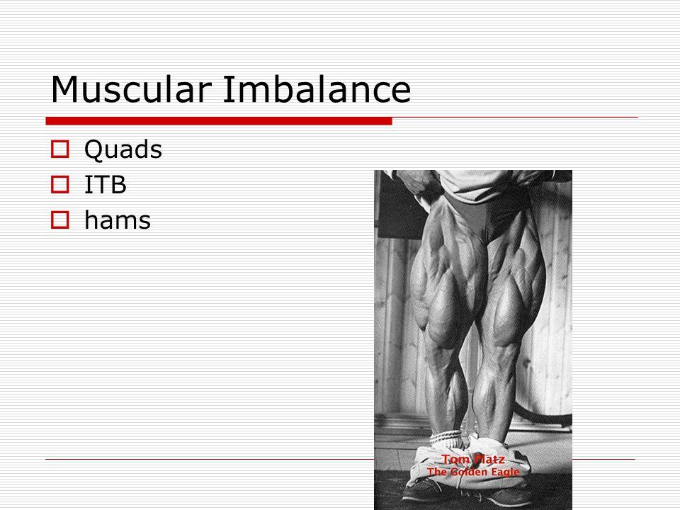 Muscular Imbalance  Quads  ITB  hams