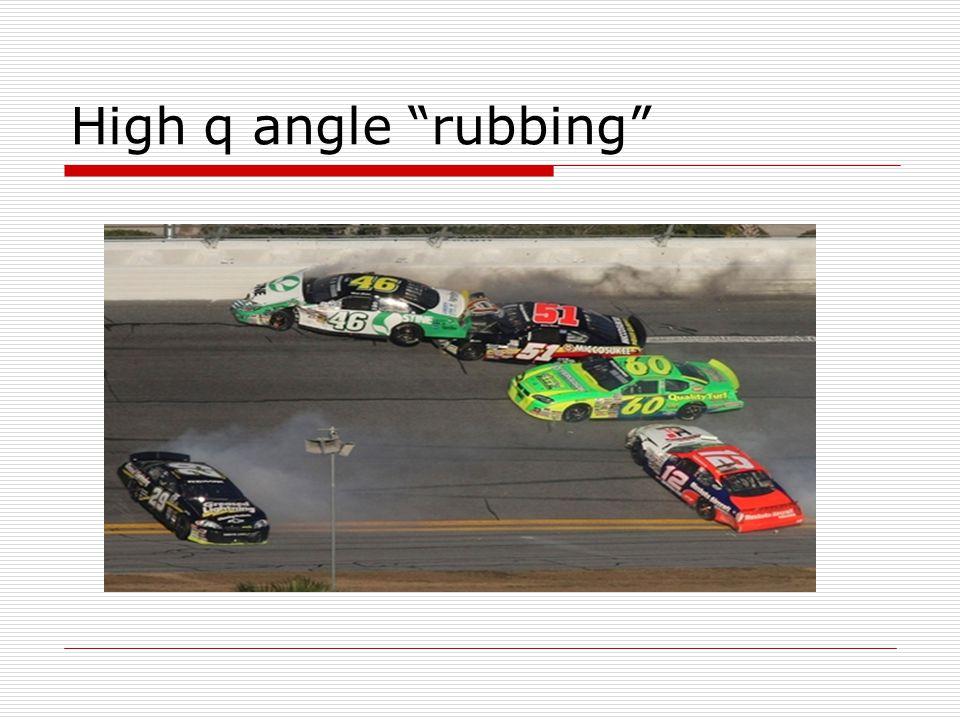 High q angle rubbing