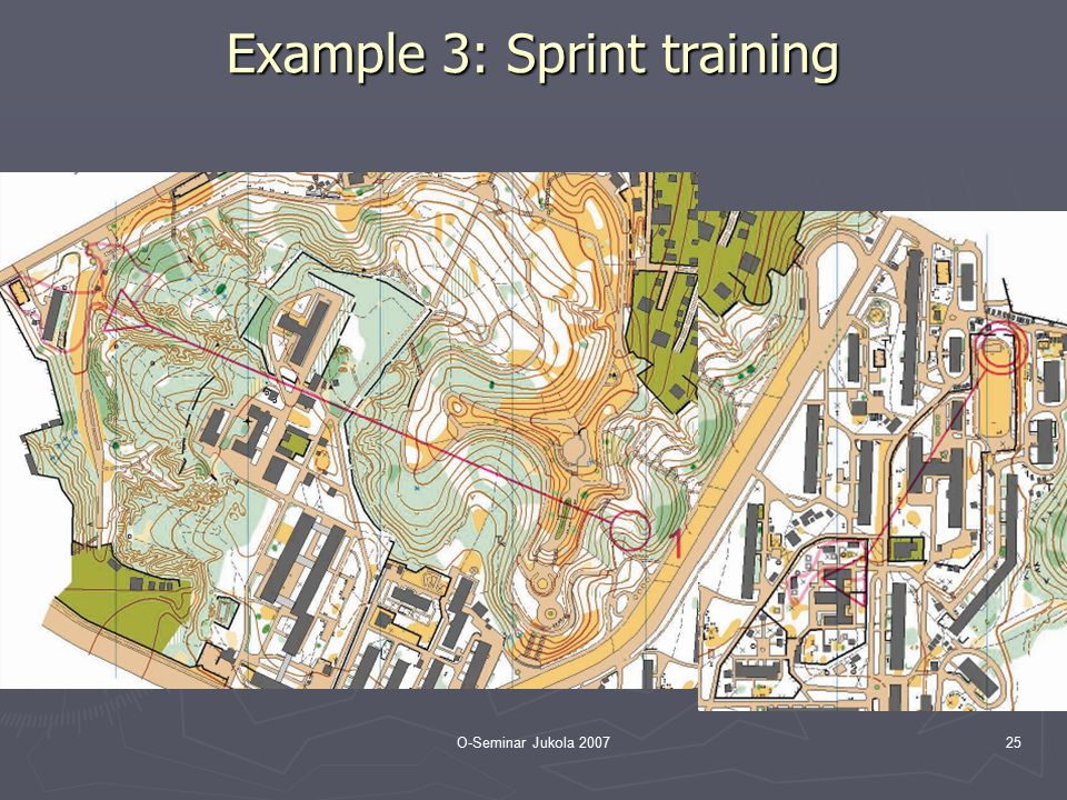 O-Seminar Jukola 200725 Example 3: Sprint training