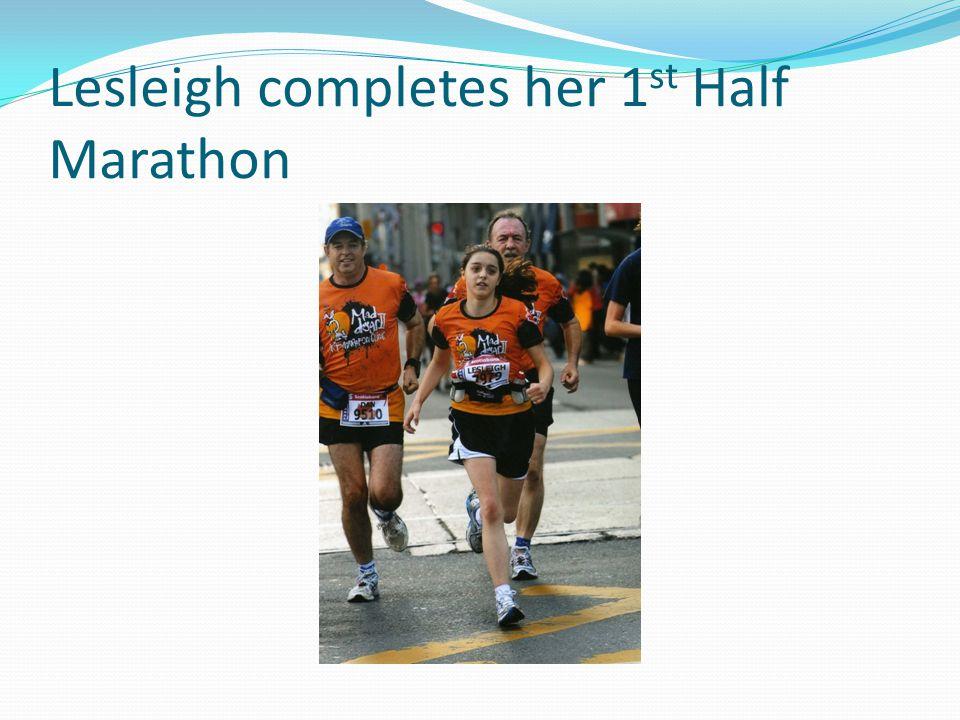Lesleigh completes her 1 st Half Marathon