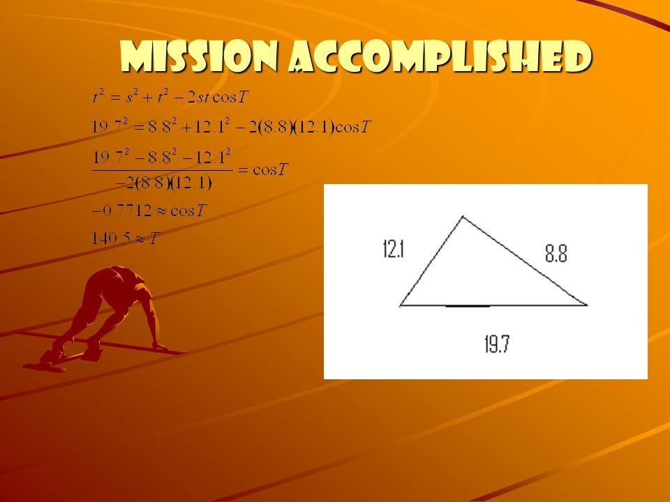 MISSION ACCOMPLISHED MISSION ACCOMPLISHED