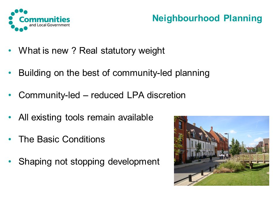 Neighbourhood Planning What is new .