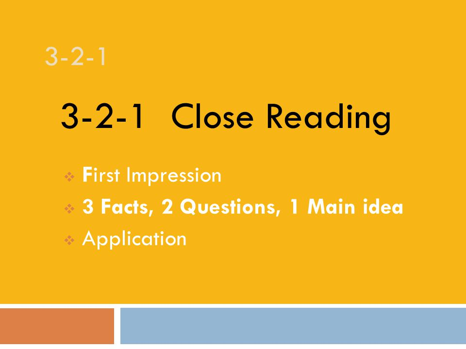 3-2-1 Read the article silently to yourself.