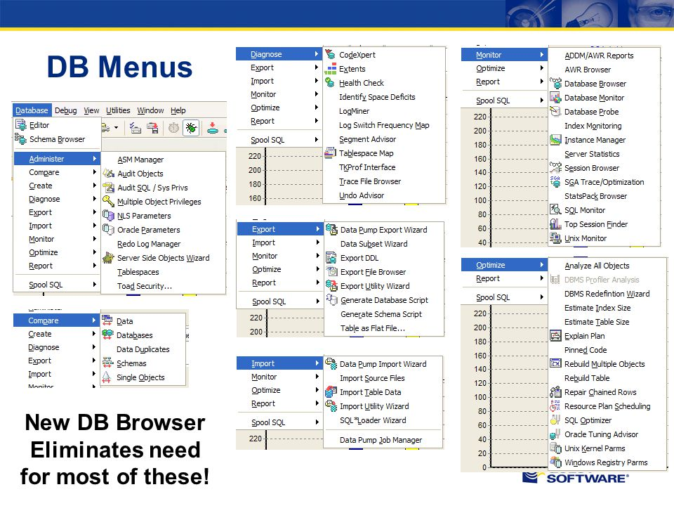DB Menus New DB Browser Eliminates need for most of these!