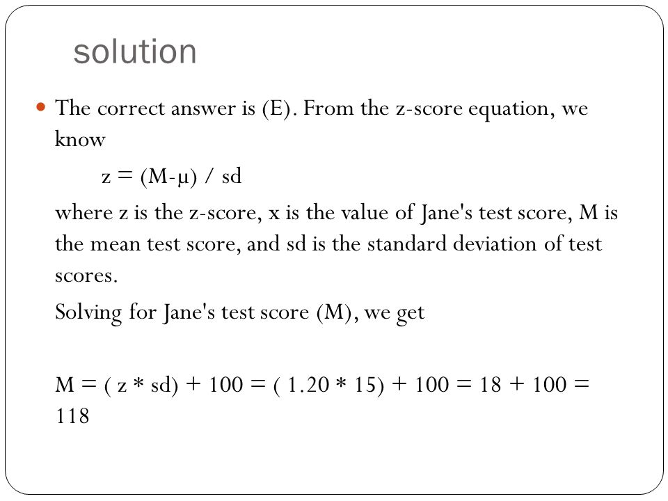 solution The correct answer is (E).