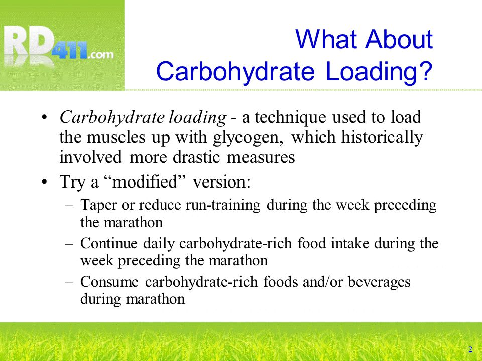 What About Carbohydrate Loading.