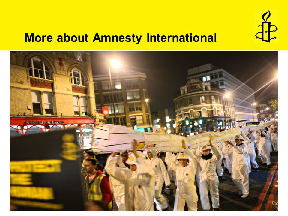 More about Amnesty International